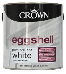 crown interior pure brilliant white eggshell wood u0026 metal paint