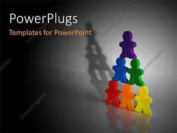 templates powerpoint crystalgraphics powerpoint template colored 3d people standing on each other forms