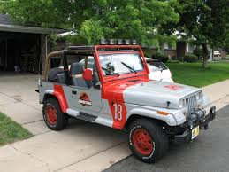 jurassic park car trex add to bucket list get a jeep wrangler and apply the jurassic