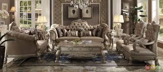 Upholstered Living Room Furniture   dresden victorian style bone velvet upholstered living room sofa