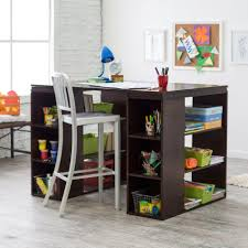 Kids Table With Storage counter height craft table with storage and aluminum chair