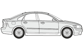 nissan skyline drawing outline how to draw a volvo s40 как нарисовать volvo s40 youtube