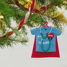healthcare in scrubs ornament keepsake ornaments