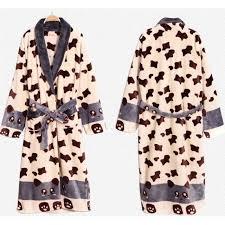 robe de chambre polaire robe de chambre polaire beige panda homme lepeignoir fr