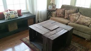 Wine Crate Coffee Table Diy by Crate Coffee Table Diy