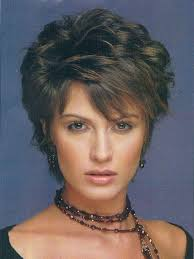 photo gallery of short layered hairstyles for fine hair over 50