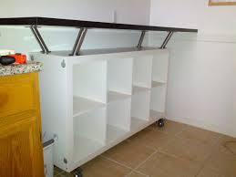 Kitchen Bar Table With Storage Breakfast Bar With Lot Of Storage Space Ikea Hackers Breakfast