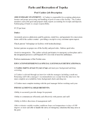 Resume Sample Cashier by Cashier Job Duties For Resume Resume For Your Job Application