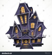 halloween haunted house background happy halloween cozy haunted house isolatd stock vector 159323447