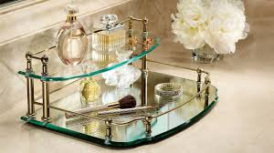 decorating uttermost dipali round serving mirrored tray for home