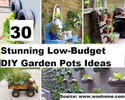 top 30 stunning low budget diy garden pots and containers home