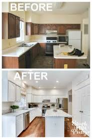 how to refinish your kitchen cabinets latina mama rama these before after pictures will inspire you to buy a fixer upper