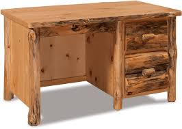 Rustic Pine Desk Office Furniture Shipshewana In Fireside Log Furniture Llc