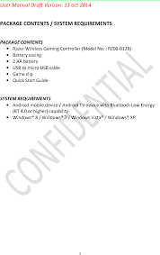 android user guide rz060128 gaming controller user manual razer inc