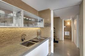 Glass Kitchen Cabinets Doors by Stylish Bar Stool Glass Door Kitchen Cabinets Having Grey Finish
