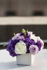 purple centerpieces purple and white centerpieces