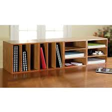 Wooden Bookshelf Low Wooden Bookcase Low Wide Floor Bookcase With Two Tier Open
