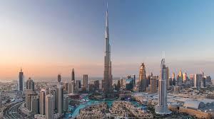 Burj Khalifa Dubai Downtown Day To Night Transition Timelapse With Burj Khalifa