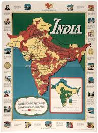 British India Map by Map Of British India World War Ii Poster 1944 Price Estimate