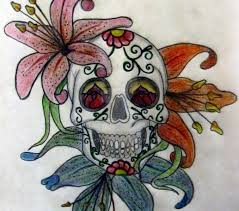 skull flowers coloring europe travel guides com