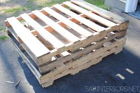 How To Make Patio Furniture Out Of Pallets by Diy Outdoor Pallet Sofa Jenna Burger