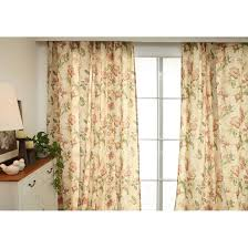Asian Curtains Asian Insulated Floral Beige Cotton Linen Beige Bedroom