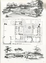 mid century modern floor plans vintage house plans country estates mid century modern