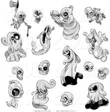 vintage halloween images clip art vector clip art of ghosts and skeletons in black and white in