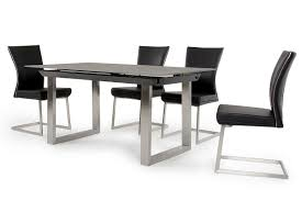 otis modern grey extendable dining table