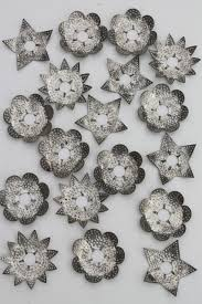 antique punched tin tree candle reflectors rustic