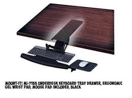 office desk with adjustable keyboard tray amazon com uncaged ergonomics kt1 b ergonomic under desk inside