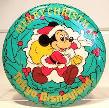 santa mickey mouse merry christmas tokyo disneyland button