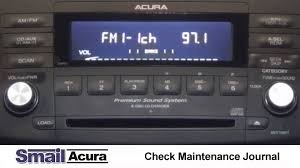 how to insert acura radio codes