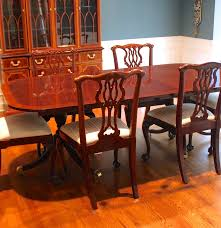 councill mahogany dining table and six chairs ebth