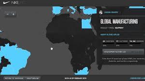 nike map nike manufacturing map