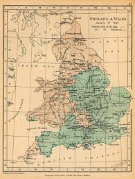 Map Of Kent England by Of England And Wales January 1 1643