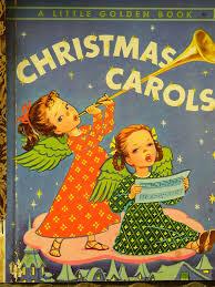 1946 vintage golden book carols past