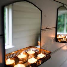 illuminated bathroom mirror with shelf impression of luxury in