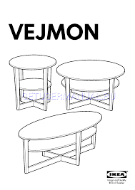 ikea vejmon coffee table ikea tables vejmon coffee table round 35 assembly instruction