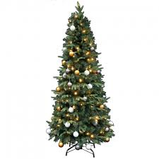kerstboom met verlichting easy set up tree led mandal decorated 180