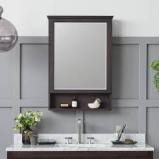 Shaker Medicine Cabinet Shop Wood Frame Metal And Led Mirror Medicine Cabinets Ronbow