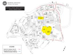 Map Of Boston College Playing Facilities