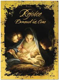 rejoice emmanuel greeting card religious christmas cards