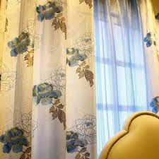 White Cotton Curtains Exclusive Blue Floral Printed White Cotton Curtains Buy White