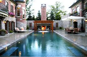 fabulous outdoor living spaces with fireplace home design ideas 2017