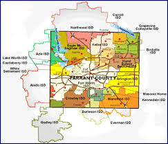 isd map tarrant county independent schools districts