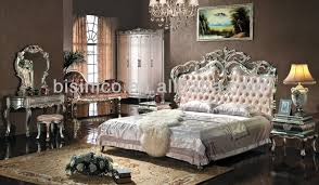 Upholstered Headboard King Bedroom Set European Style Bedroom Furniture Set Upholstered Headboard Luxury