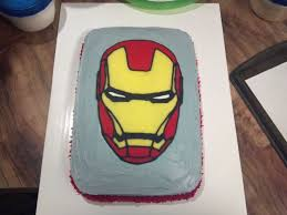 iron man cake i made using the freezer paper tracing method for