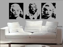 3set of marilyn monroe sexy decal living room bed room dining zoom