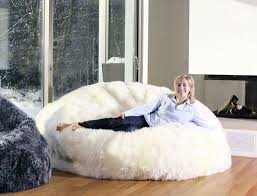 Bean Bag Sofa Bed by Sheepskin Bean Bag Chair Dudeiwantthat Com